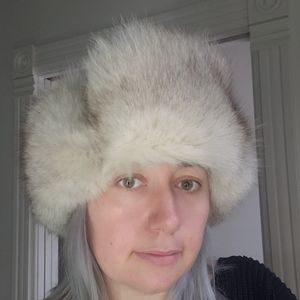 Vintage Fur Leather Chapka Winter Hat